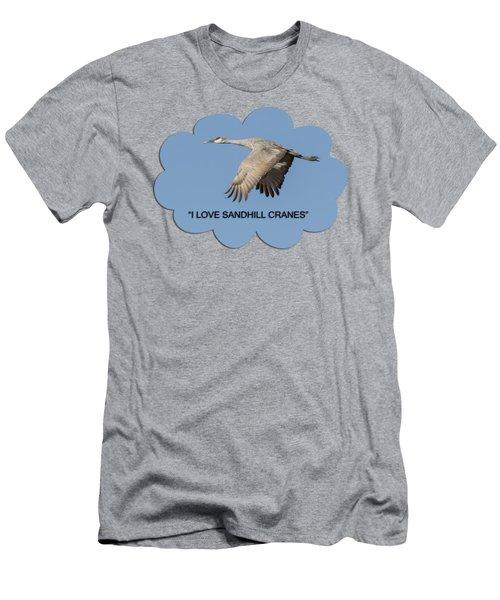 I Love Sandhill Cranes Men's T-Shirt (Athletic Fit)