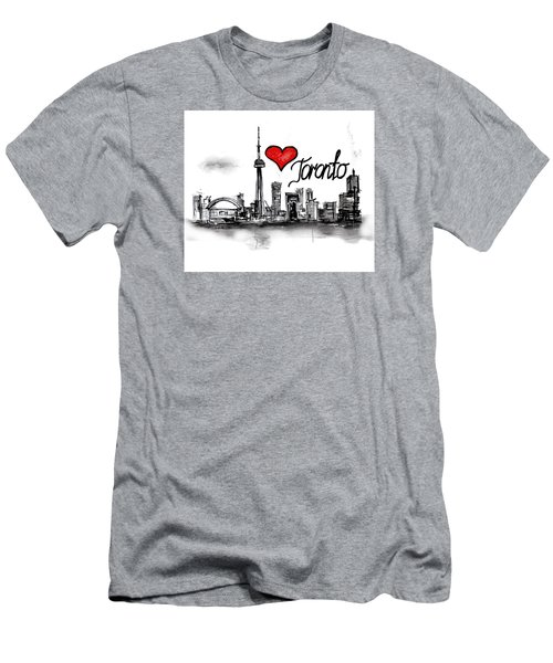 I Love Toronto Men's T-Shirt (Slim Fit) by Sladjana Lazarevic