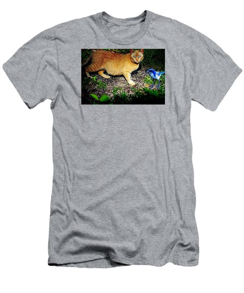 I See A Puddy Kat Men's T-Shirt (Slim Fit) by Nick Kloepping