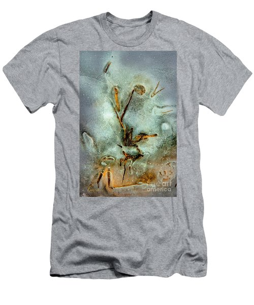 Men's T-Shirt (Slim Fit) featuring the photograph Ice Abstract by Tom Cameron