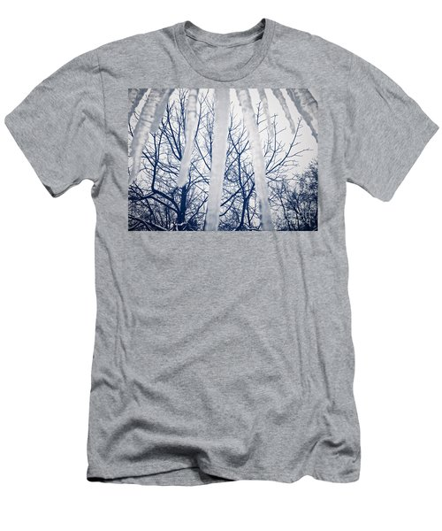 Men's T-Shirt (Athletic Fit) featuring the photograph Ice Bars by Robert Knight