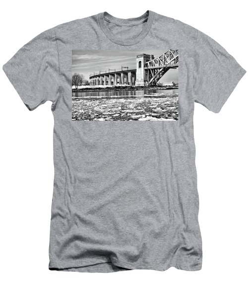 Ice Flows On The East River Men's T-Shirt (Athletic Fit)