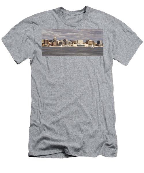 Ice Sailing - Lake Monona - Madison - Wisconsin Men's T-Shirt (Slim Fit) by Steven Ralser