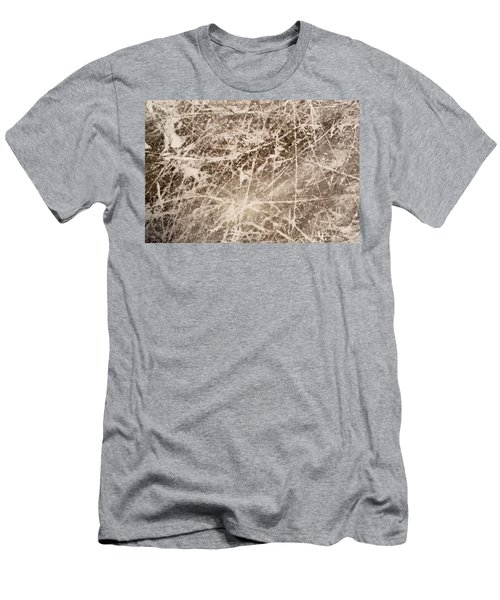 Men's T-Shirt (Slim Fit) featuring the photograph Ice Skating Marks by John Williams