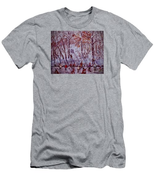 Ice Skating On Hardy Pond Men's T-Shirt (Athletic Fit)
