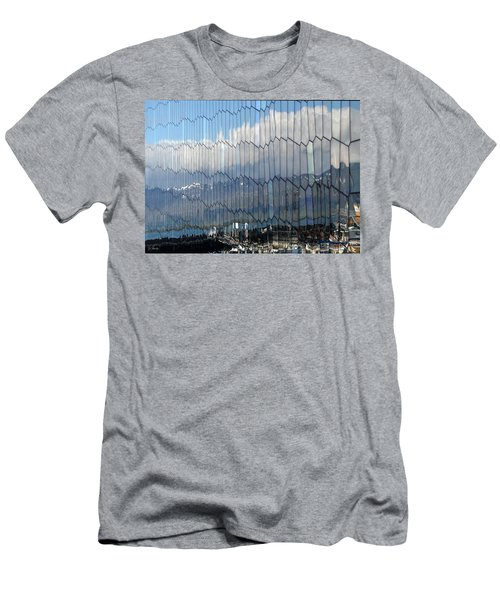 Men's T-Shirt (Slim Fit) featuring the photograph Iceland Harbor And Mountains by Joe Bonita