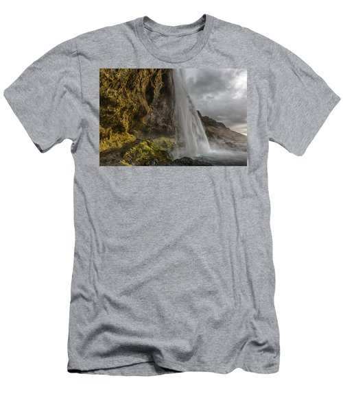 Iceland Waterfall Men's T-Shirt (Athletic Fit)