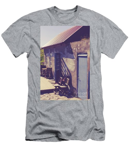 Men's T-Shirt (Athletic Fit) featuring the photograph Icelandic Cafe by Edward Fielding