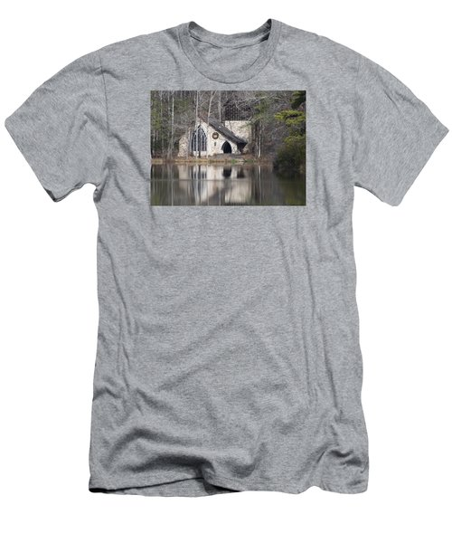 Ida Cason Callaway Memorial Chapel Men's T-Shirt (Slim Fit) by Linda Geiger