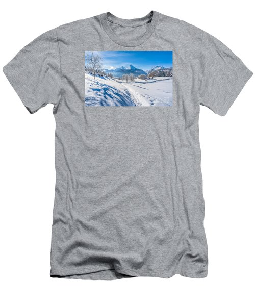 Idyllic Landscape In The Bavarian Alps, Germany Men's T-Shirt (Athletic Fit)