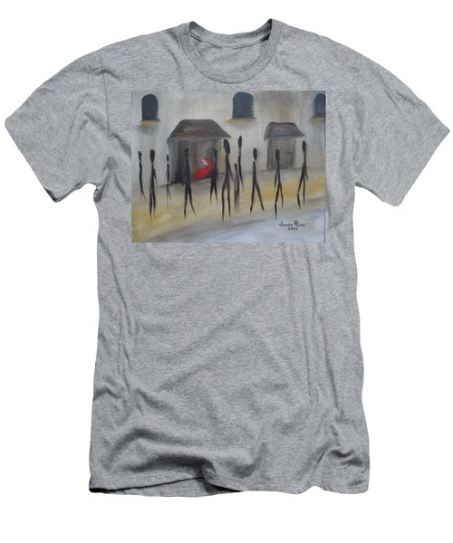 Ignoring The Homeless Men's T-Shirt (Slim Fit) by Judith Rhue