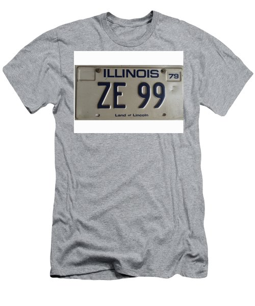 Illinois License Men's T-Shirt (Slim Fit)
