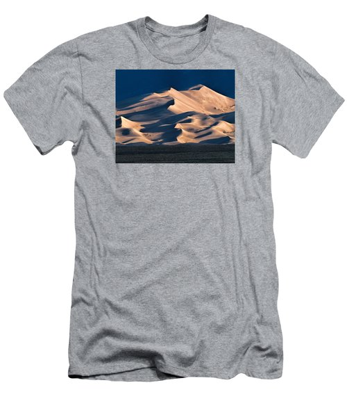 Illuminated Sand Dunes Men's T-Shirt (Slim Fit) by Alana Thrower