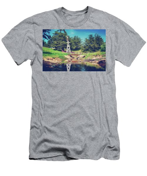 In A Perfect World Men's T-Shirt (Slim Fit) by Laurie Search