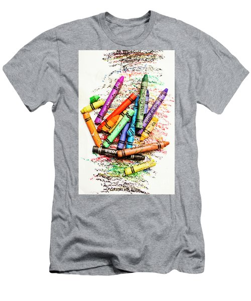 In Colours Of Broken Crayons Men's T-Shirt (Athletic Fit)