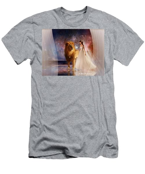 In His Presence  With Title Men's T-Shirt (Athletic Fit)