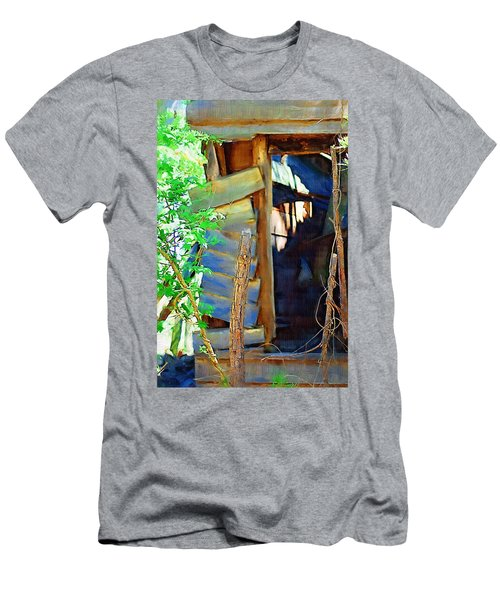 Men's T-Shirt (Slim Fit) featuring the photograph In Shambles by Donna Bentley