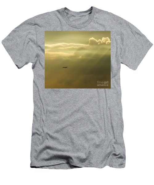 In The Clouds  Men's T-Shirt (Slim Fit) by Christy Ricafrente