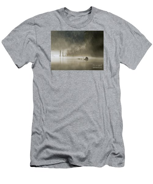 Men's T-Shirt (Slim Fit) featuring the photograph In The Fog by Inge Riis McDonald
