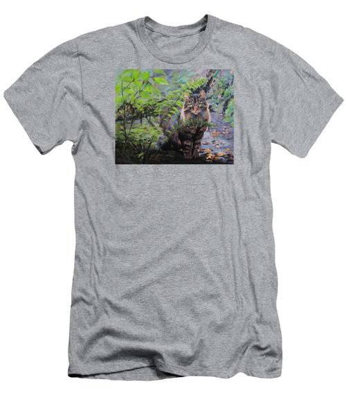 Men's T-Shirt (Slim Fit) featuring the painting In The Forest by Karen Ilari