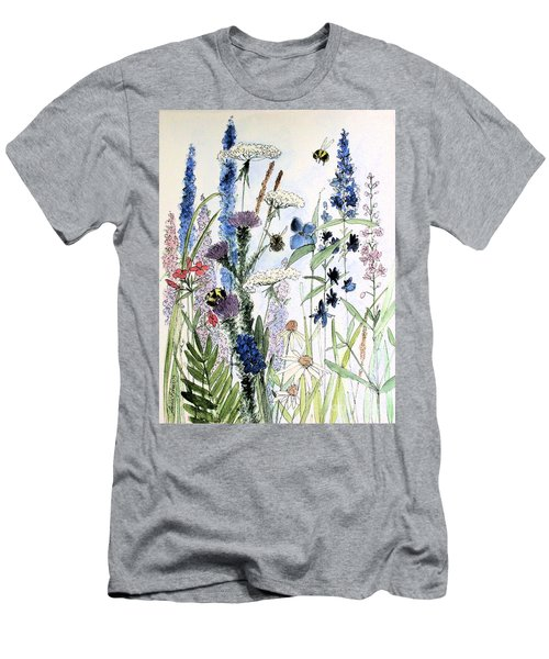 In The Garden Men's T-Shirt (Slim Fit) by Laurie Rohner
