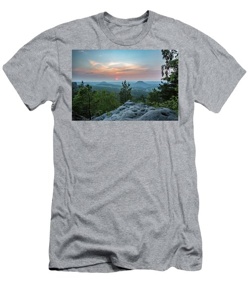 In The Land Of Mesas Men's T-Shirt (Slim Fit) by Andreas Levi