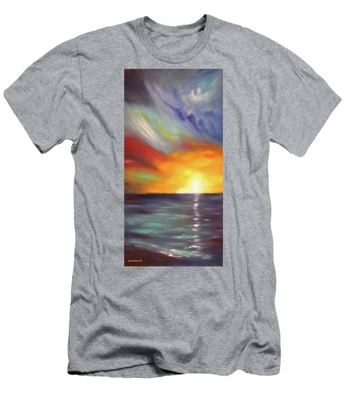 In The Moment - Vertical Sunset Men's T-Shirt (Athletic Fit)