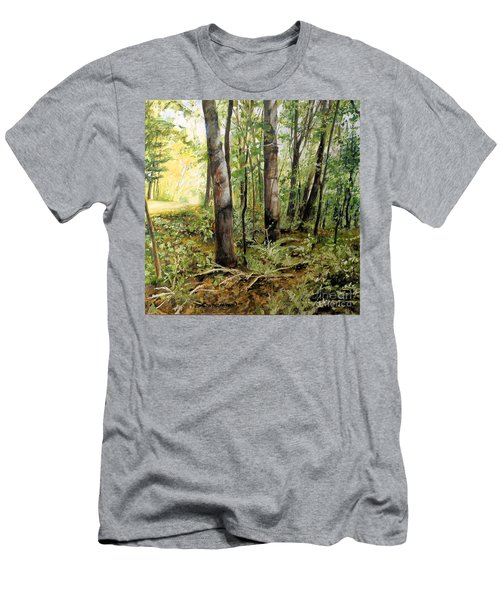 In The Shaded Forest  Men's T-Shirt (Slim Fit) by Laurie Rohner