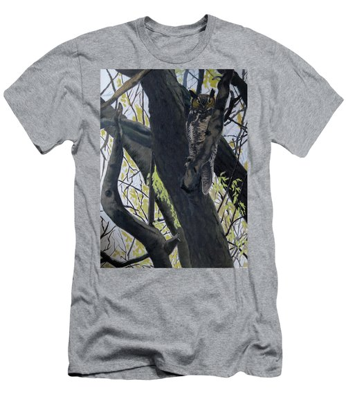 In The Shadow-ojibway Great Horn Owl Men's T-Shirt (Athletic Fit)