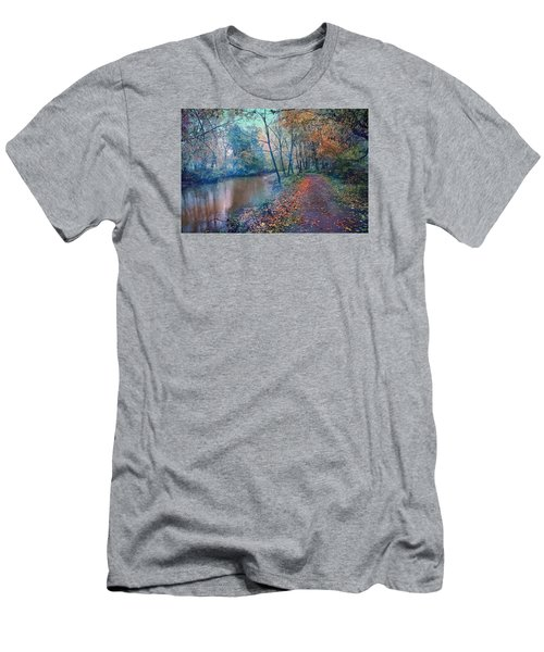 In The Stillness Of The Morning Men's T-Shirt (Slim Fit) by John Rivera