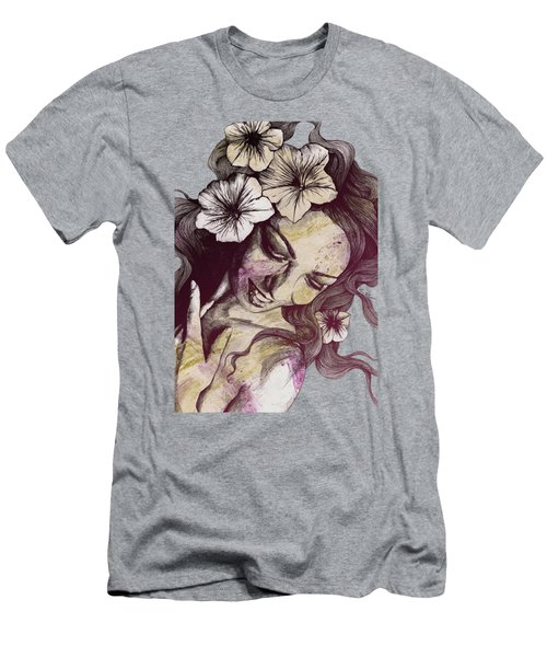 In The Year Of Our Lord - Wine - Smiling Lady With Petunias Men's T-Shirt (Athletic Fit)