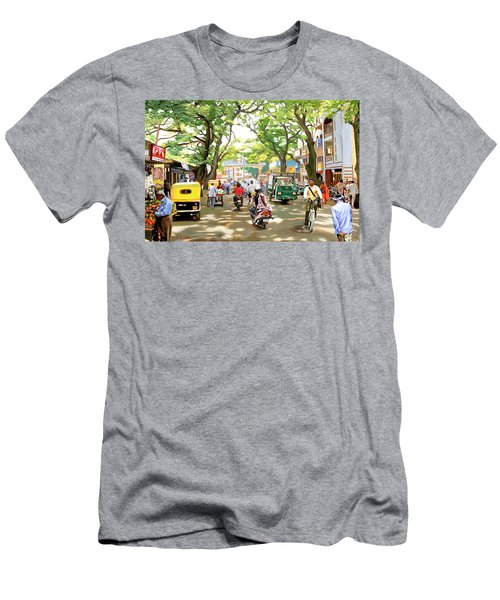 India Street Scene Men's T-Shirt (Athletic Fit)