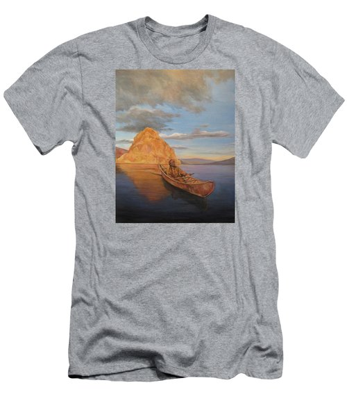 Indian On Lake Pyramid Men's T-Shirt (Athletic Fit)