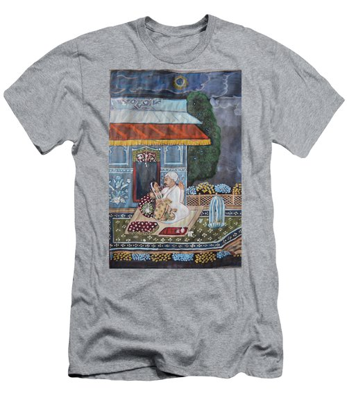 Men's T-Shirt (Slim Fit) featuring the painting Indian Romance by Vikram Singh