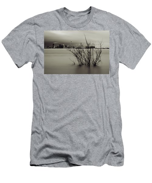 Industry On The Mississippi River, In Monochrome Men's T-Shirt (Athletic Fit)