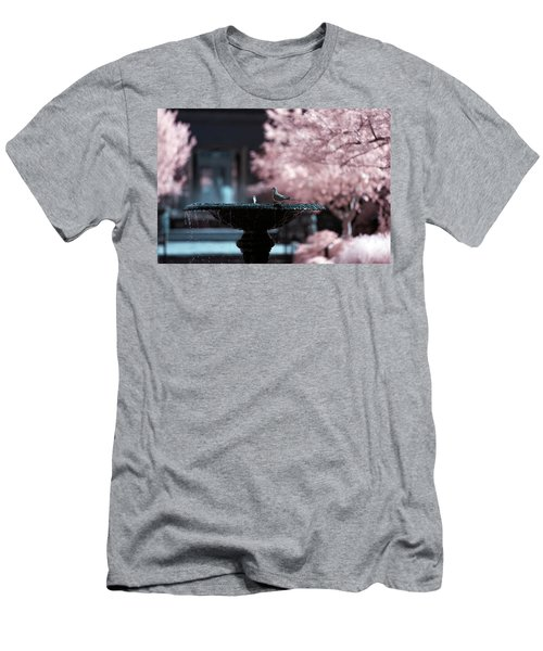 Men's T-Shirt (Athletic Fit) featuring the photograph Infrared Morning Dove by Brian Hale