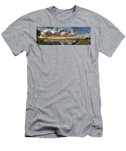 Inlet Sunrise Panorama Men's T-Shirt (Slim Fit) by Phil Mancuso