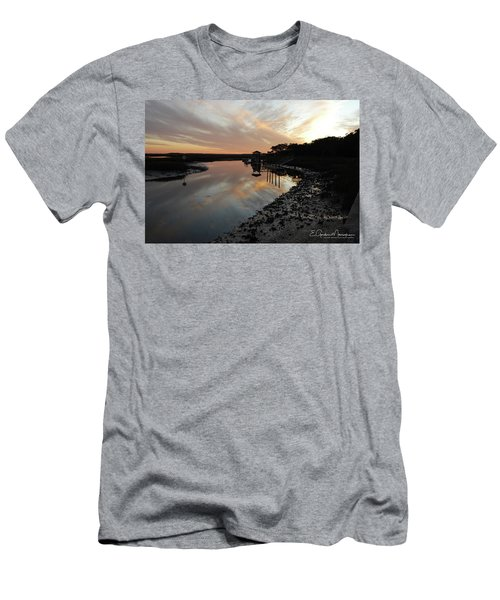 Inlet Sunset Men's T-Shirt (Slim Fit) by Gordon Mooneyhan