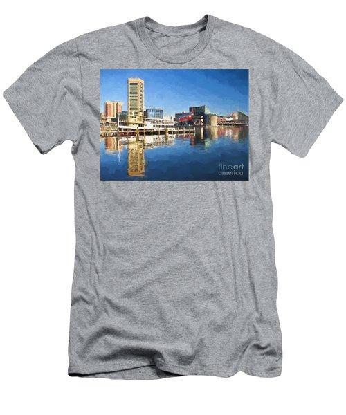 Inner Harbor Reflections  Men's T-Shirt (Athletic Fit)