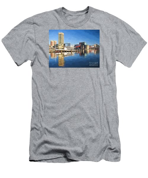 Inner Harbor Reflections  Men's T-Shirt (Athletic Fit)