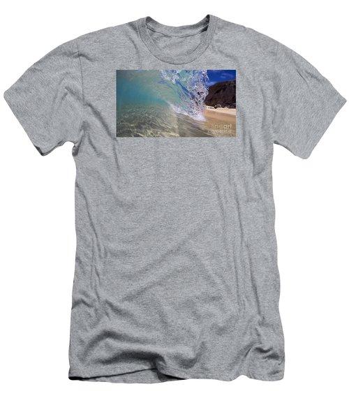 Inside The Curl Big Beach Maui Wave Men's T-Shirt (Athletic Fit)