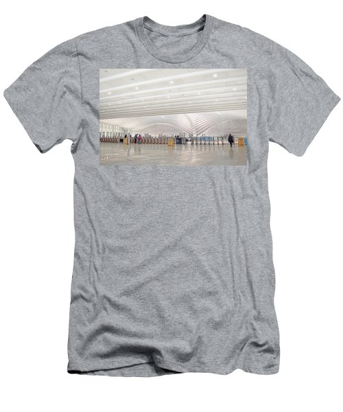 Inside The Oculus - New York City's Financial District Men's T-Shirt (Athletic Fit)
