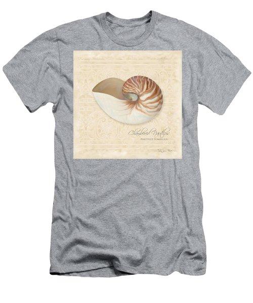 Inspired Coast Iv - Chambered Nautilus, Nautilus Pompilius Men's T-Shirt (Athletic Fit)