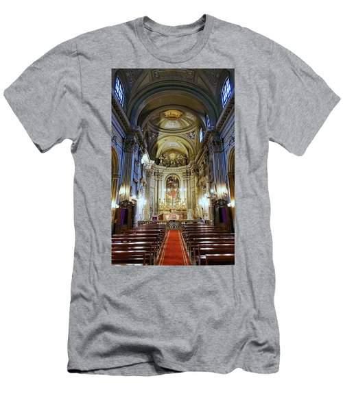 Interior View Of Santi Vincenzo E Anastasio A Fontana Di Trevi In Rome Italy Men's T-Shirt (Athletic Fit)