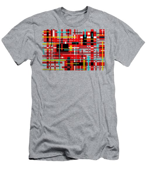 Men's T-Shirt (Slim Fit) featuring the digital art Intersection by Shawna Rowe