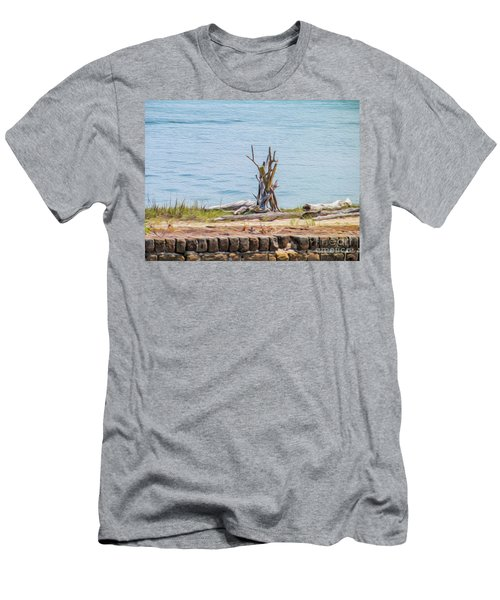 Intertwined Thoughts By The Ocean Men's T-Shirt (Athletic Fit)