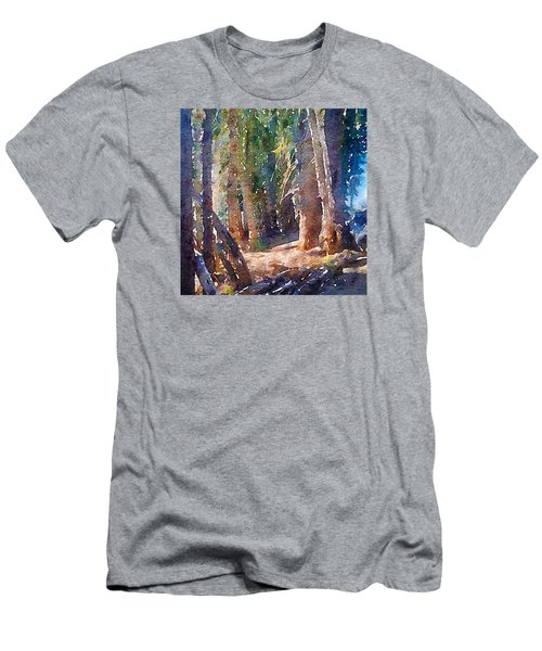 Men's T-Shirt (Slim Fit) featuring the photograph Into The Woods Again by Ronda Broatch