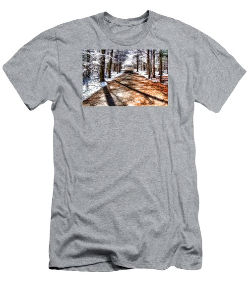 Men's T-Shirt (Slim Fit) featuring the photograph Into Winter by Betsy Zimmerli