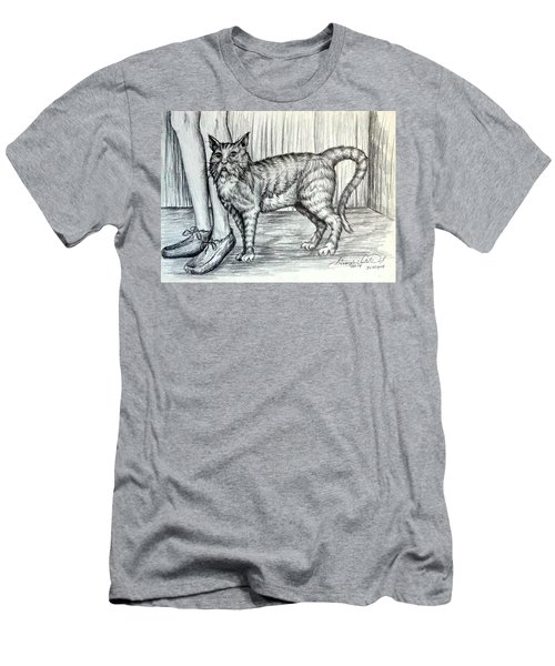 Intrigue  The Cat Men's T-Shirt (Athletic Fit)