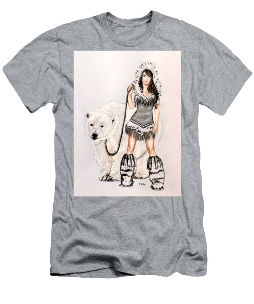 Inuit Pin-up Girl Men's T-Shirt (Slim Fit) by Teresa Wing